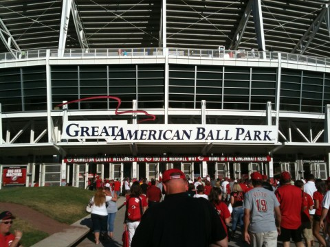Outside Great American Ball Park