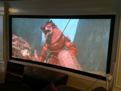 Massive Wraparound Screen