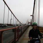 Kim Biking The Bridge