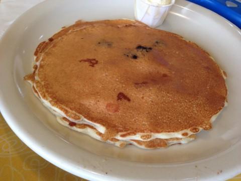 Blueberry Wispy Thin Pancakes