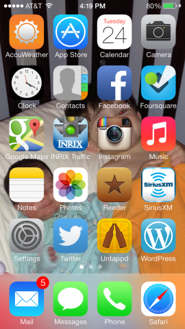 iOS 7 On My iPhone 5