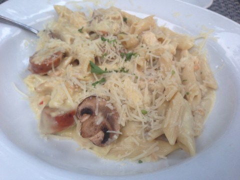 Roasted Garlic Chicken & Italian Sausage Pasta