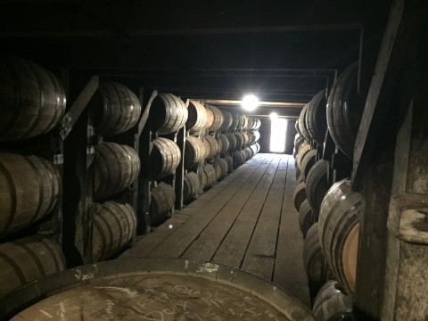 Inside Warehouse C at Buffalo Trace