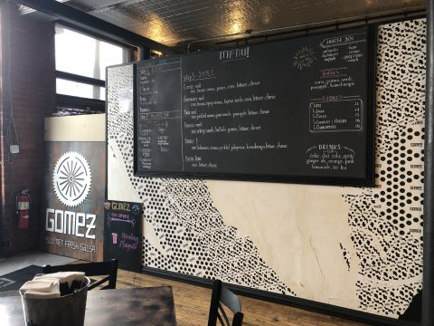 Menu at Gomez Salsa